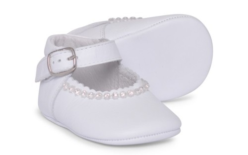Baby Girls Soft Sole Shoe Gabriela 1174 - White