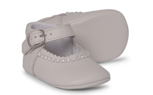 Baby Girls Soft Sole Shoe Gabriela 1174 - Cream