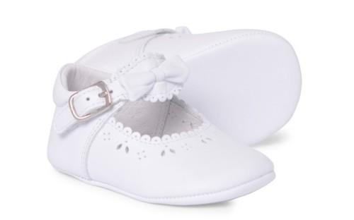 Baby Girls Soft Sole Shoe Moya 2841 - White