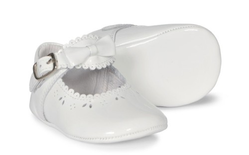 Baby Girls Soft Sole Shoe Moya 2841 - White Patent