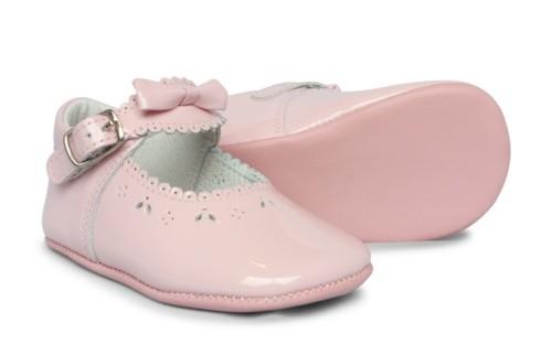 Baby Girls Soft Sole Shoe Moya 2841 - Pink Patent