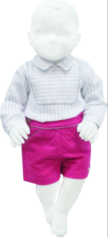 Boys Miranda Fuscia and Beige Set
