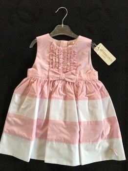 Girls Butterscotch Pink and White Dress