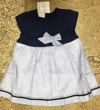 Paz Rodriguez Navy and Blue Dress