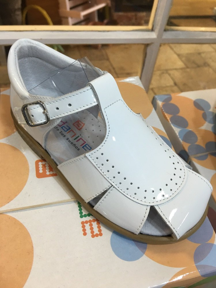 Boys Andanines Sandals White Patent