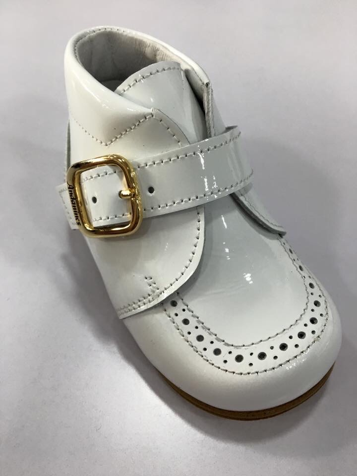 Boys Andanines White Patent Boots