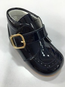 Boys Andanines Navy Patent Boot