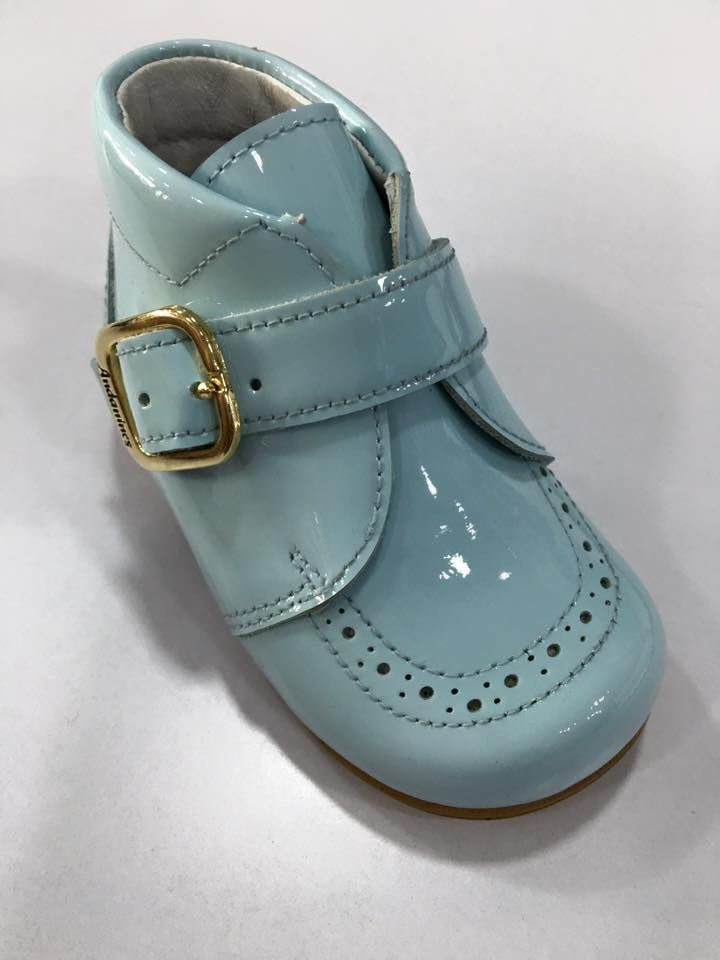 Boys Andanines Blue Patent Boots