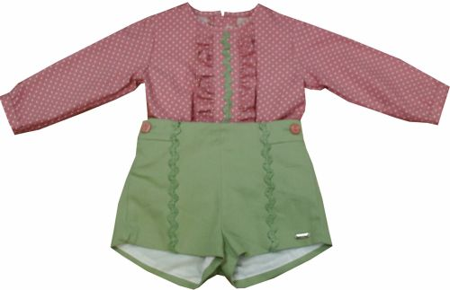 Boys Dolce Petit Green and Grenate Set