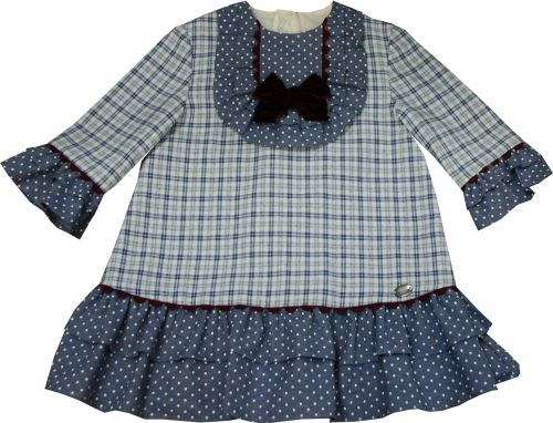 Girls Dolce Petit Burgundy and Blue Dress