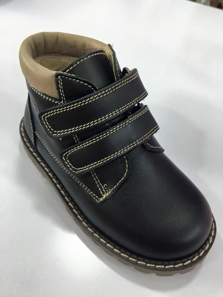 Boys Andanines Navy Leather Boots