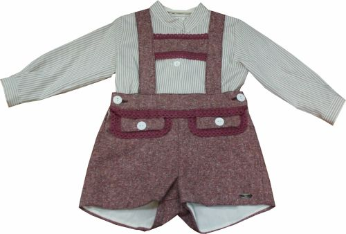 Boys Dolce Petit Plum and Beige Set