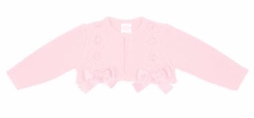 Girls Rochy Bow Bolero - Pink