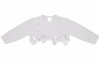Girls Rochy Bow Bolero - White
