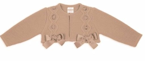 Girls Rochy Bow Bolero - Camel