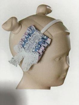 Girls Miranda Blue and Pink Headband