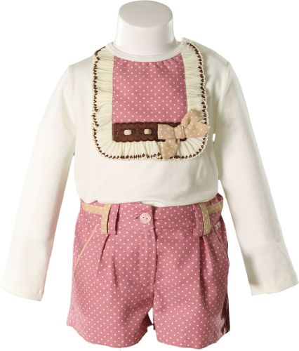 Girls Miranda Pale Pink Shorts Set