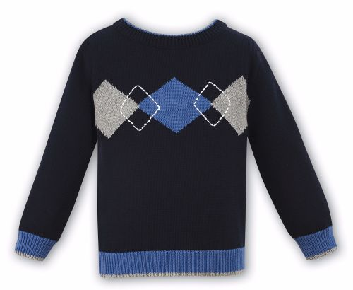 Boys Sarah louise 010595 Sweater - Navy