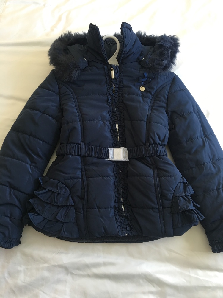 Girls Dolce Petit Coat - Navy