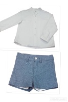 Boys Dolce Petit Blue and Rasberry Shorts Set