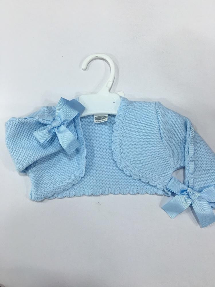 Girls Rochy Bolero Bow Sleeve - Blue