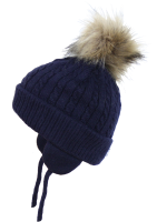 Satila Pom Pom Hat Piper Navy