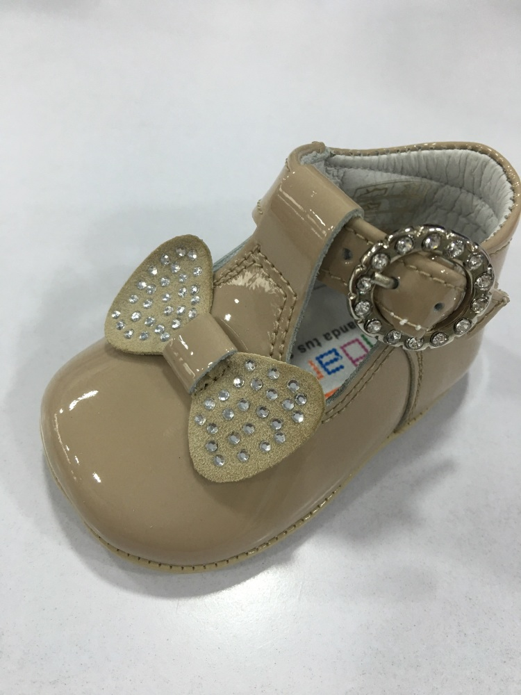 Girls Andanines Soft Sole Shoes - Camel