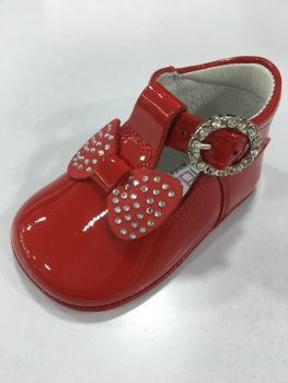 Girls Andanines Soft Sole Shoes 162890 - Red