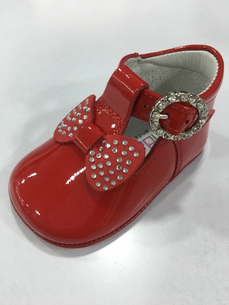 Girls Andanines Soft Sole Shoes - Red