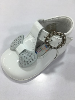 Girls Andanines Soft Sole Shoes 162890 - White