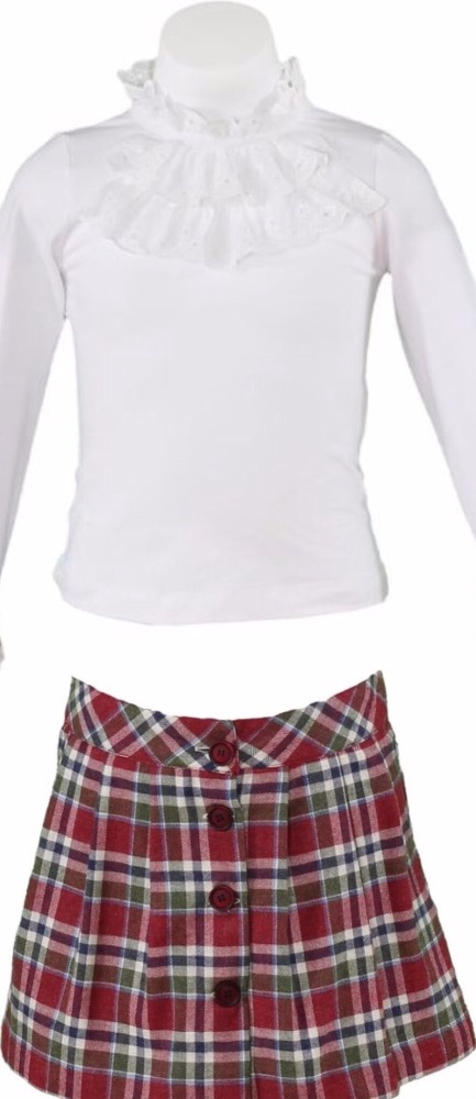 Girls Miranda Burgundy Skirt Set