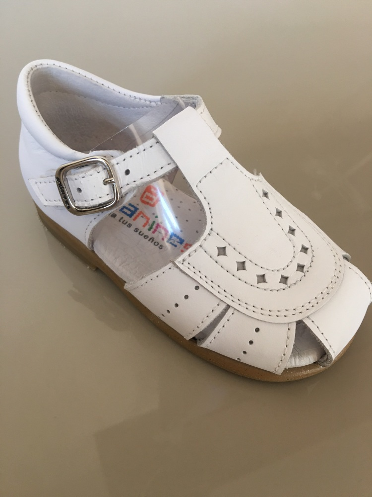 Boys Andanines Sandals White Leather