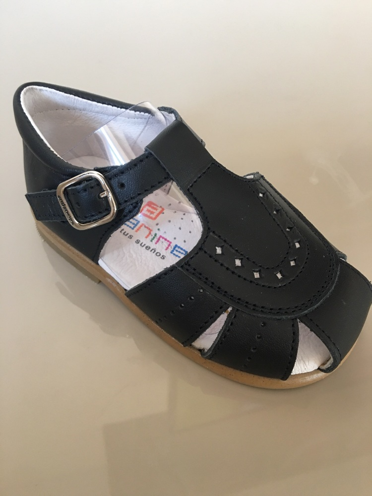 Boys Andanines Sandals Navy Leather