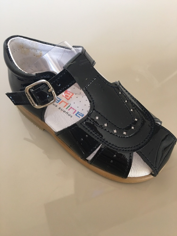 Boys Andanines Sandals Navy Patent