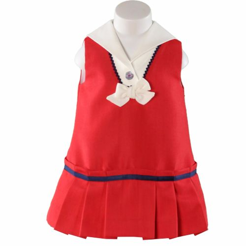 Girls Miranda Red, White and Navy Dress 192