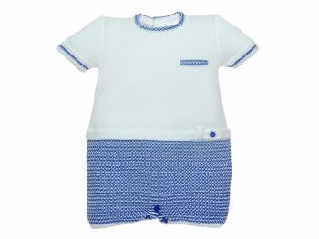 Boys Paz Rodriguez Blue and White Romper 92535
