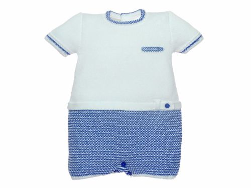 Boys Paz Rodriguez Blue and White Romper 92535