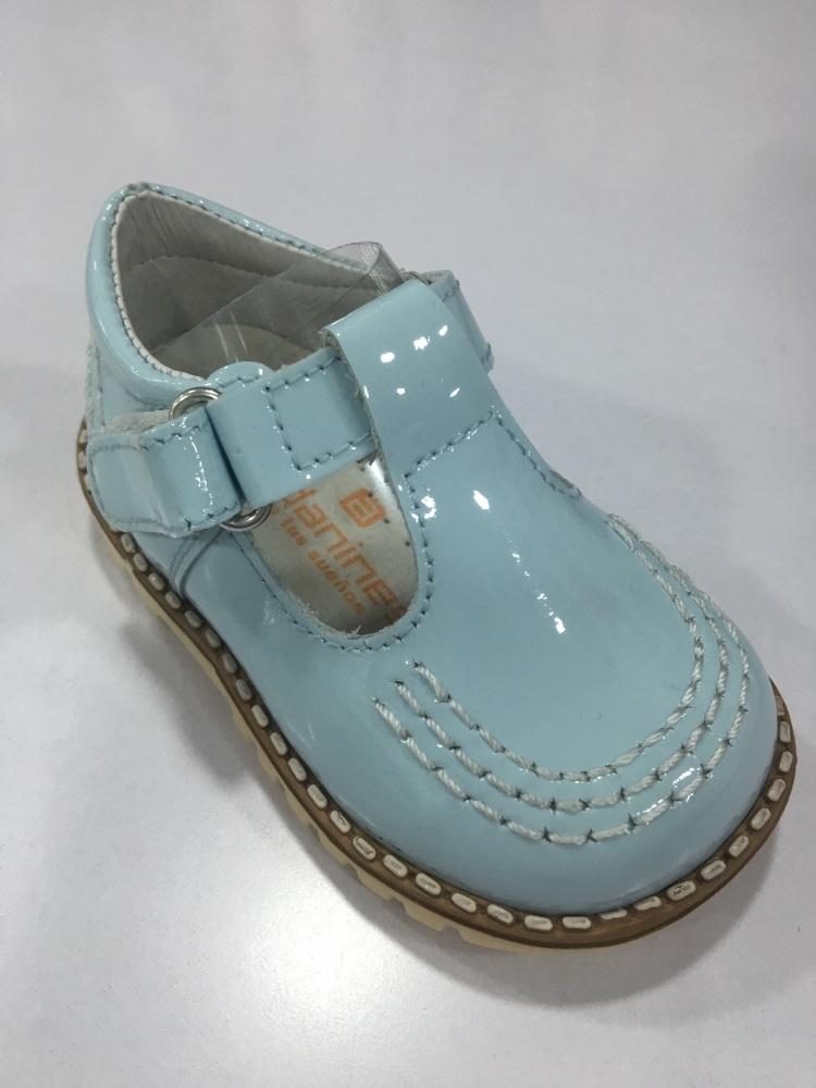 Boys Andanines Blue Patent Shoes