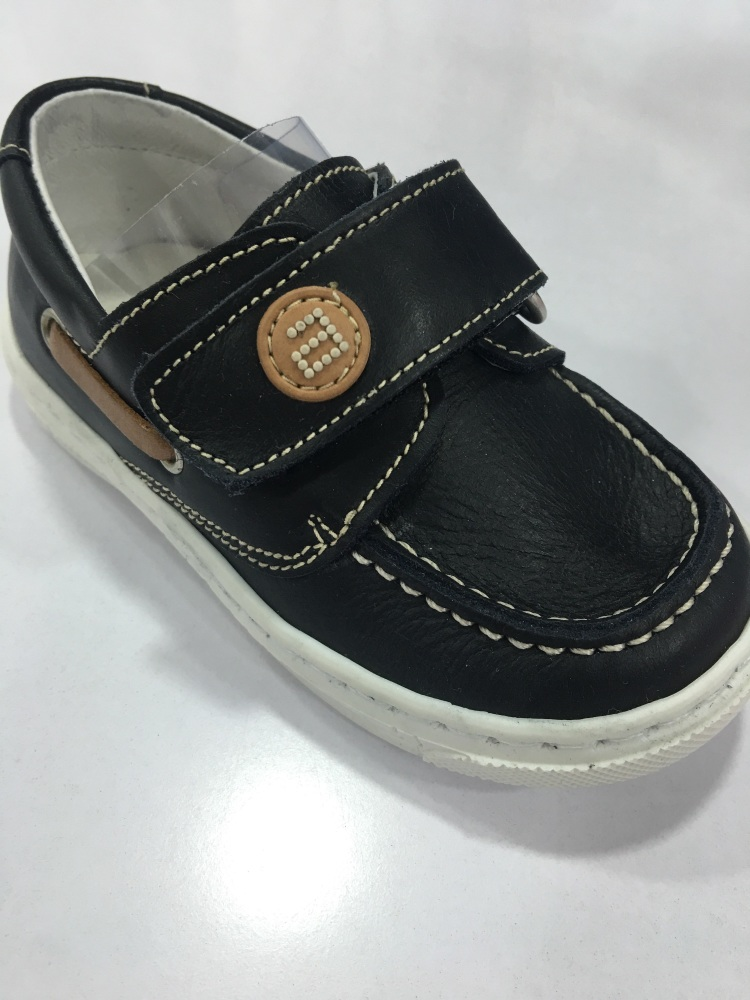 Boys Andanines Navy Leather Shoes