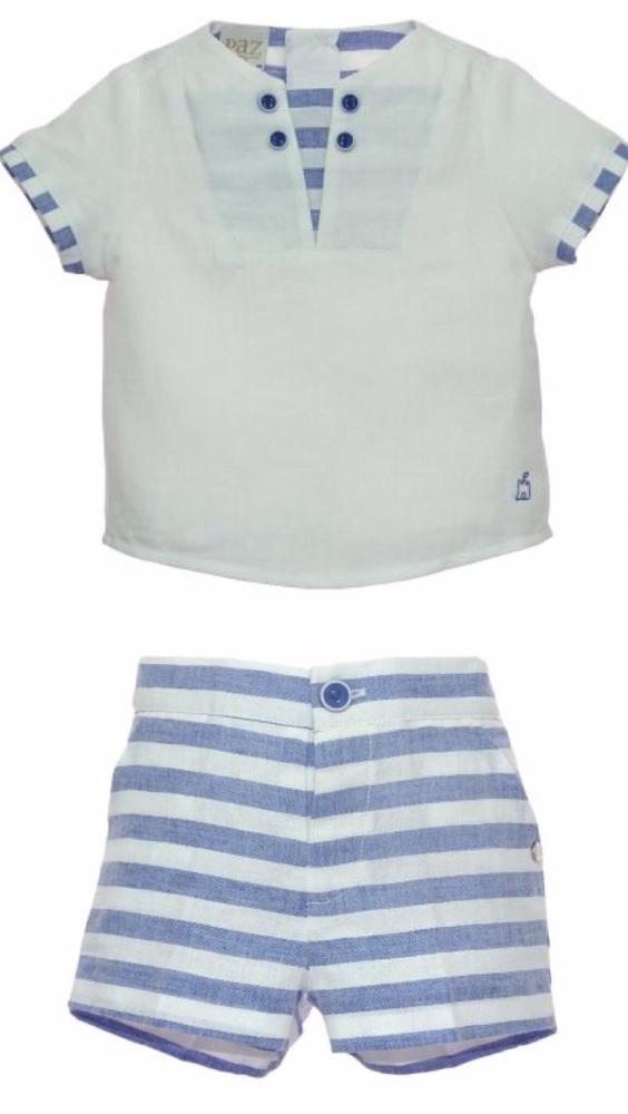 Boys Paz Rodriguez Blue and White 2 Piece Set 95523/95524