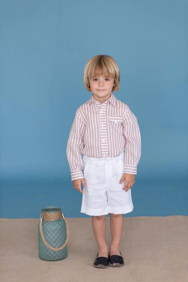 Boys Dolce Petit Beige and White Set 2258