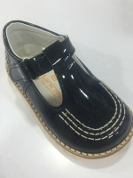Boys Andanines Navy Patent Shoes