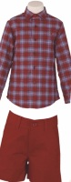 Boys Miranda Burgundy and Blue Set 248
