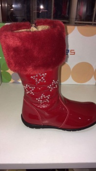 Girls Andanines Red Patent Boots
