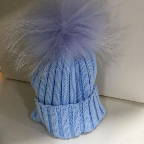8c95f0914b8 Rahigo Faux Fur Pom Pom Hat - Blue