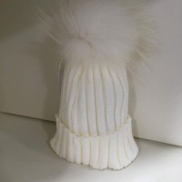 Rahigo Faux Fur Pom Pom Hat - Cream