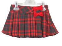 Girls Dr Kid Red Pleated Skirt DK497