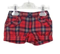 Girls Dr Kid Red Tartan Shorts DK316