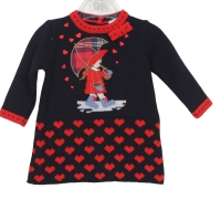 Girls Dr Kid Navy and Red Dress DK310