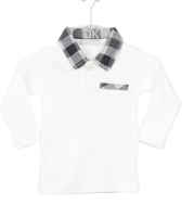 Boys Dr Kid Grey and White T-Shirt DK111